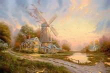 Пейзаж с ветряной мельницей - Кинкейд, Томас