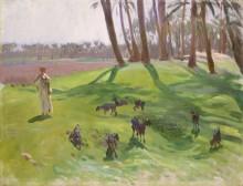 Пейзаж с пастухом коз - Сарджент, Джон Сингер