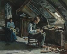 Сапожник в мансарде, 1883 - Люс, Максимильен
