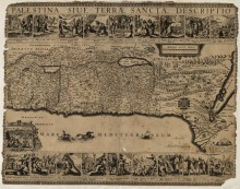 Карта Палестины 1650
