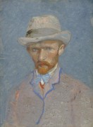 Автопортрет в серой шляпе (Self Portrait with Grey Felt Hat), 1887 - Гог, Винсент ван