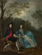 Портрет художника с женой и дочерью - Гейнсборо, Томас