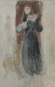 Скрипка, 1893 - Моризо, Берта