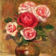 Розы в вазе - Ренуар, Пьер Огюст