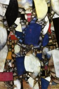 Женщина в голубом (The Woman in Blue), 1912 - Леже, Фернан