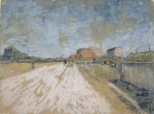 Road Running Beside the Paris Ramparts, 1887 - Гог, Винсент ван