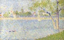 Вид на Сену из Ла Гранд Jatte - Сёра, Жорж-Пьер