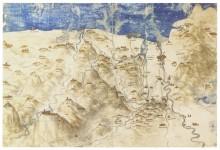 Карта западной Тосканы - Винчи, Леонардо да