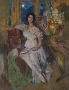Портрет сидящей леди - Коровин, Константин Алексеевич