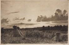 Поле (офорт), 1886 - Шишкин, Иван Иванович