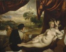 Венера с Купидоном и лютнистом - Тициан Вечеллио