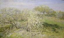 Весна, фруктовые деревья в цвету - Моне, Клод