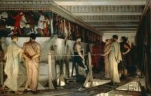 Фидас, показывающий друзьям фриз пантеона - Альма-Тадема, Лоуренс
