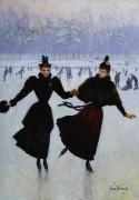 Две женщины на катке - Беро, Жан