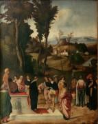 Испытание Моисея огнем - Джорджоне (Джорджо Барбарелли да Кастельфранко)