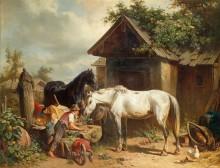 На ферме - Венне, Адольф ван дер