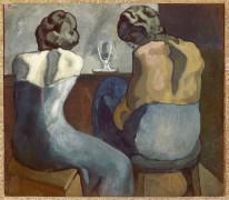 Две женщины в баре - Пикассо, Пабло