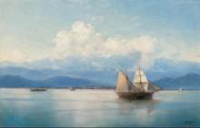 Корабли у кавказского берега - Айвазовский, Иван Константинович