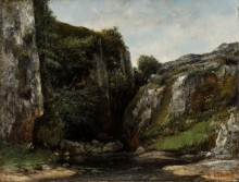 Пейзаж с горным ручьем - Курбе, Гюстав