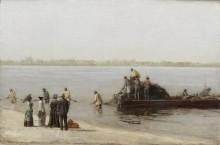 Рыбная ловля сетью в Глостере, река Делавер - Икинс, Томас