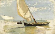 Набросок пляжа, 1923 - Бастида, Хоакин Соролла