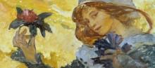 Женщина с розой - Муха, Альфонс