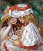 Две девушки за чтением - Ренуар, Пьер Огюст