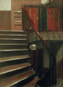 Лестница в доме 48 по Лилльской улице в Париже - Хоппер, Эдвард