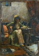 Восточный интерьер с сидящей девушкой - Уотерхаус, Джон Уильям