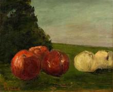 Натюрморт с яблоками - Курбе, Гюстав