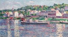 Ба-Мёдон, баржа на реке, 1897 - Люс, Максимильен