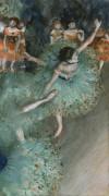 Балерины в зеленом - Дега, Эдгар