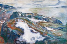 Зимний пейзаж - Мунк, Эдвард