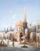Уличная торговля в Каире - Зиген, Август фон