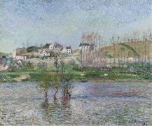 Наводнение в Понтуазе, 1882 - Писсарро, Камиль