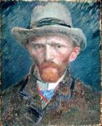 Автопортрет в серой фетровой шляпе (Self Portrait with Grey Felt Hat), 1887 - Гог, Винсент ван