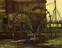 Водяная мельница в Геннеп (Water Wheels of Mill at Gennep), 1884 - Гог, Винсент ван
