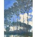 Тополя на берегу реки Эпт, 1891 - Моне, Клод