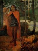 Колдун с Хива Оа (Маркизский мужчина в красном плаще), 1902 - Гоген, Поль