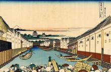 Нихонбаши мост в Эдо - Кацусика, Хокусай