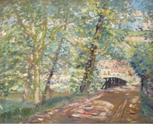 Мост к дому художника, 1908-11 -  Бюхр, Карл Альберт