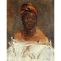 Портрет негритянки - Мане, Эдуард