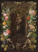 Мадонна с Младенцем в цветочной гирлянде - Паж, Адриан де