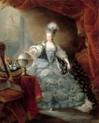 Мария-Антуанета с рукой, лежащей на глобусе. 1775 - Готье-Даготи, Жан-Батист-Андре