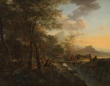 Итальянский пейзаж с рисовальщиком - Бот, Ян