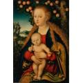 Мадонна с младенцем под яблоней - Кранах, Лукас Старший