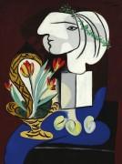 Натюрморт с тюльпанами - Пикассо, Пабло