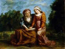 Обучение Девы Марии - Делакруа, Эжен