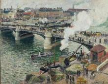 Мост Буальдьё в Руане в дождливый день - Писсарро, Камиль