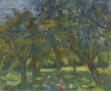 Две женщины, сидящие среди деревьев (Two Women Sitting Among the Trees), 1930s - Фальк, Роберт